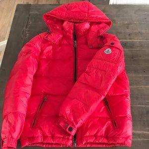 moncler red maya jacket
